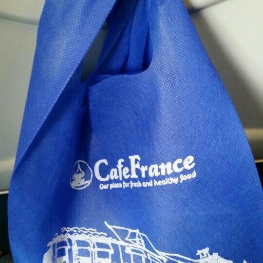 Photo taken at Cafe France by Oscar P. on 6/22/2015