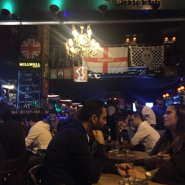 Photo taken at Millwall English Pub by Salih K. on 9/24/2016