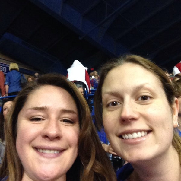 Photo taken at Allen Fieldhouse by Natalie on 3/6/2014