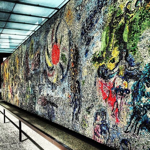"""Photo taken at Chagall Mosaic, """"The Four Seasons"""" by David B. on 5/7/2013"""