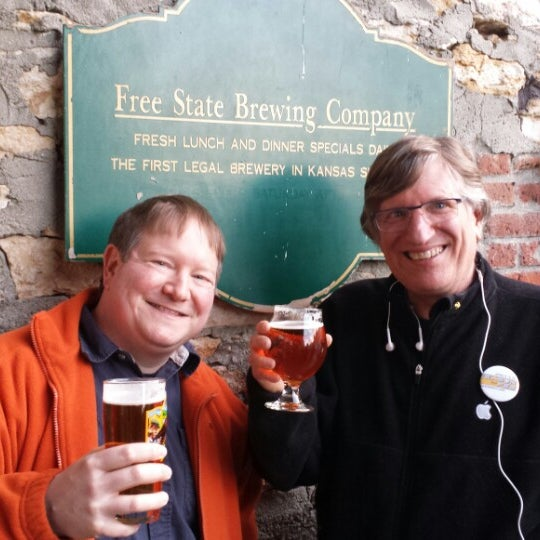 Photo taken at Free State Brewing Company by Greg L. on 4/5/2014