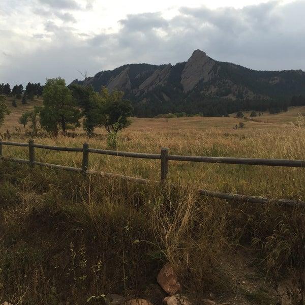 Photo taken at Colorado Chautauqua National Historic Landmark by Lauren F. on 10/8/2015