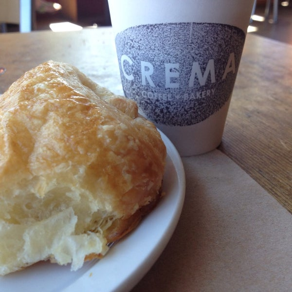 Photo taken at Crema Bakery and Cafe by Scott on 6/30/2014