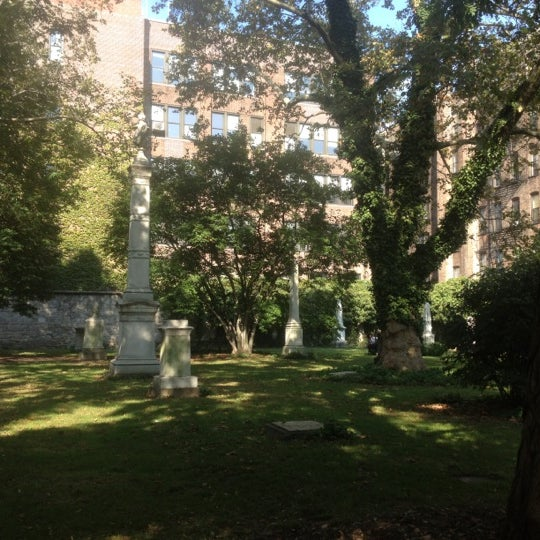 Photo taken at New York City Marble Cemetery by QQ W. on 10/6/2012