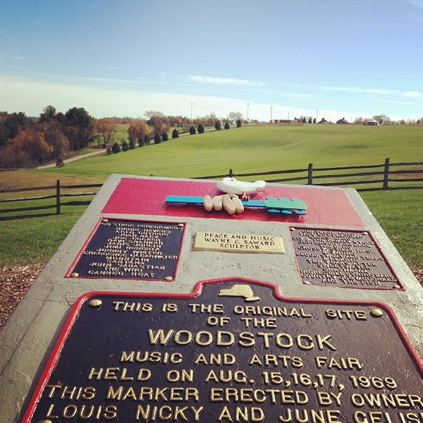 Photo taken at Woodstock Festival Concert Site/Monument by Julia P. on 10/14/2013
