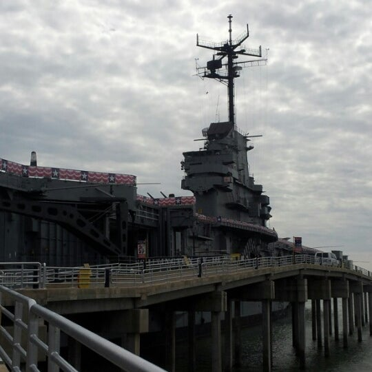 Photo taken at USS Lexington Museum On The Bay by Ellena R. on 10/27/2012