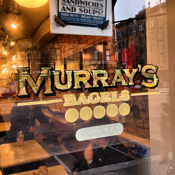 Photo taken at Murray's Bagels by Hugo A. on 12/8/2012