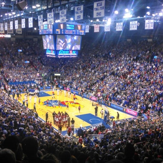 Photo taken at Allen Fieldhouse by Travis C. on 2/25/2014