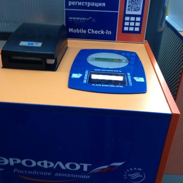 Photo taken at Стойки регистрации / Check-in desk by Rozaliya M. on 6/1/2013