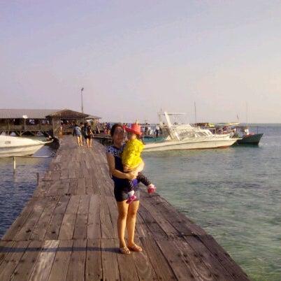 Photo taken at Pulau Pramuka by Erica G. on 7/29/2014