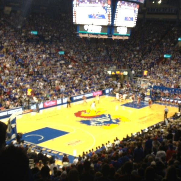 Photo taken at Allen Fieldhouse by Banu on 2/25/2014