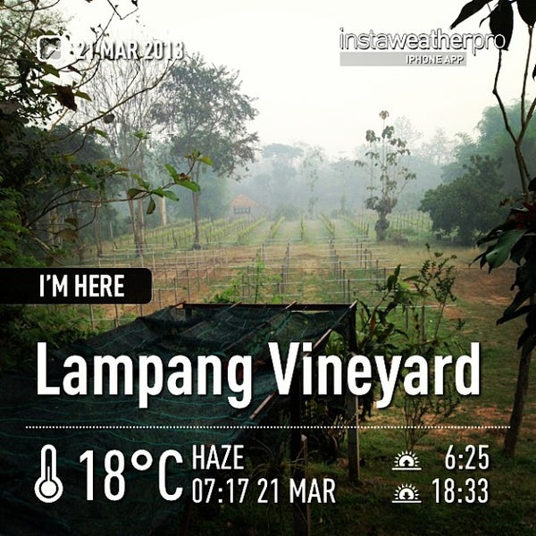 Photo taken at Lampang Vineyard by Jesada K. on 3/21/2013