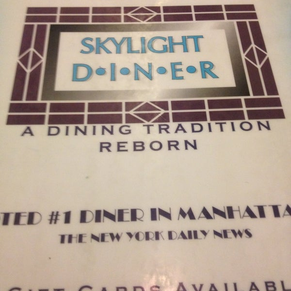 Photo taken at Skylight Diner by Reggie on 1/27/2013