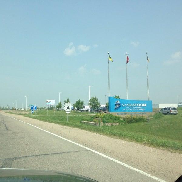 Photo taken at Saskatoon John G. Diefenbaker International Airport (YXE) by Tuyara S. on 7/9/2014