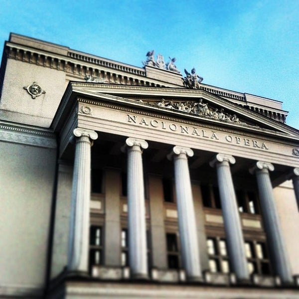 Photo taken at Latvijas Nacionālā Opera | Latvian National Opera by Agnese B. on 4/22/2013