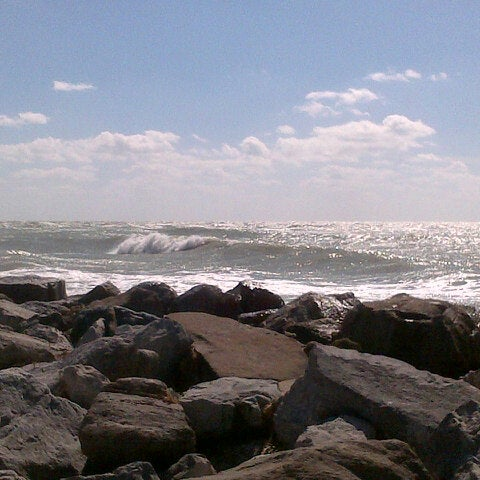 Photo taken at South Jetty / Humphris Park by craig c. on 10/29/2012