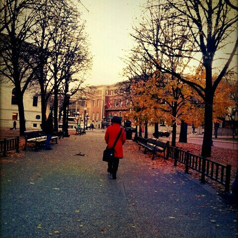 Photo taken at Rice Park by J P. on 11/3/2012