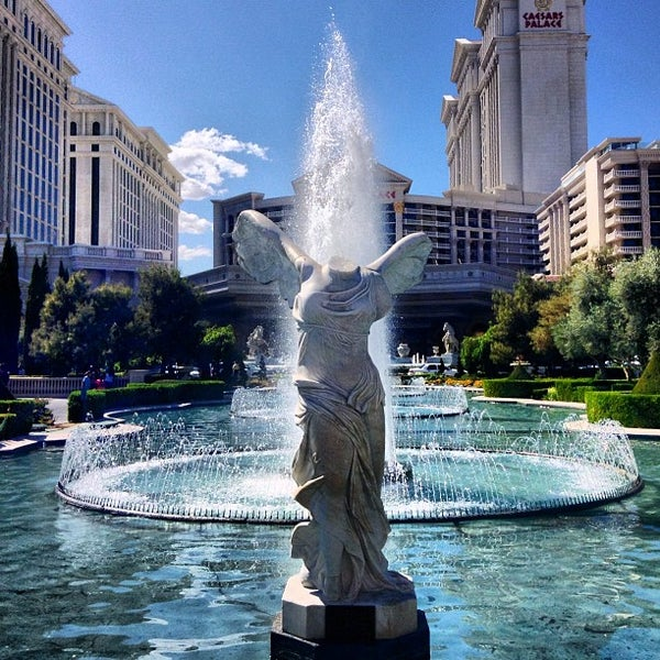 Photo taken at Caesars Palace Gardens by Cristian L. on 3/30/2013