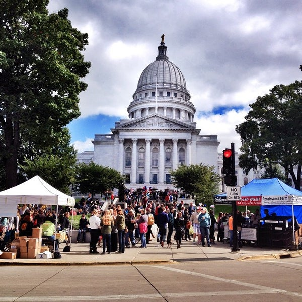 Photo taken at Dane County Farmers' Market by Antonio S. on 9/13/2014