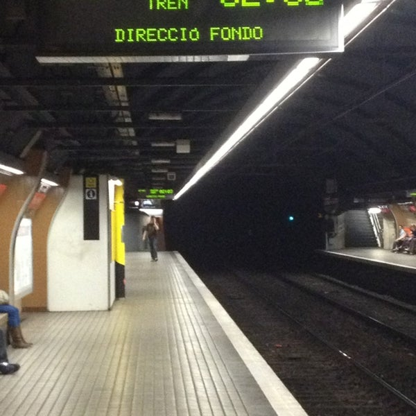 Photo taken at METRO Plaça de Sants by Eduardo C. on 7/17/2013