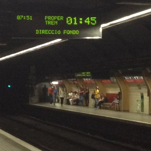 Photo taken at METRO Plaça de Sants by Eduardo C. on 7/5/2013