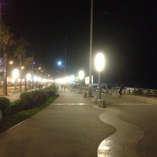 Photo taken at La Corniche de Casablanca by Kemal S. on 10/11/2012