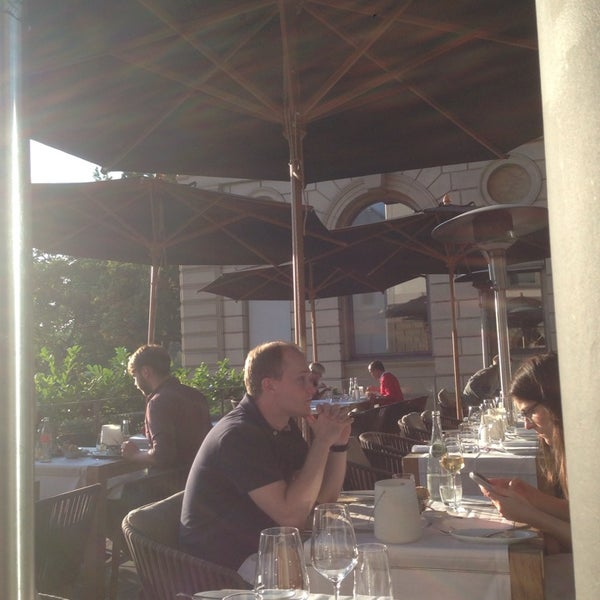 Photo taken at Holbein's Café-Restaurant by Aybike B. on 9/14/2014