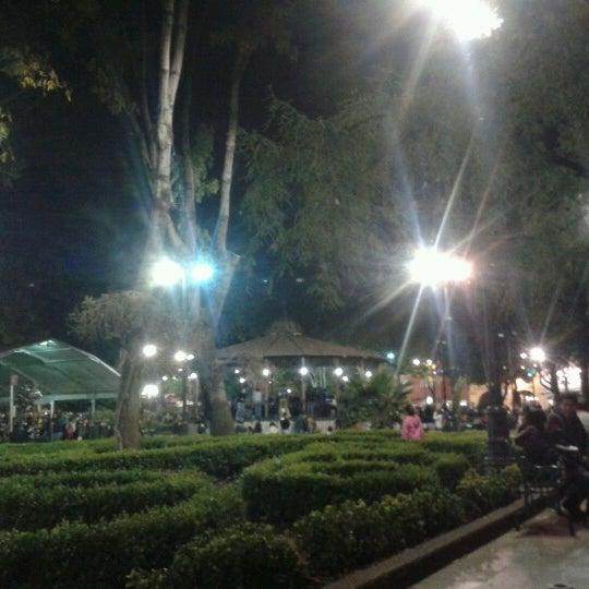 Photo taken at Jardín Hidalgo by Iskra M. on 12/2/2012