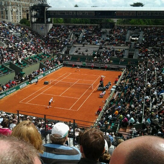 Photo taken at Stade Roland Garros by Martin G. on 5/30/2013
