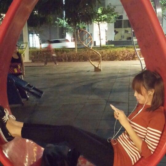 Photo taken at Bonifacio High Playground by April Lynne R. on 4/8/2014