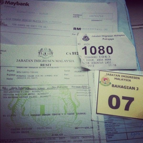 Photo taken at Jabatan Imigresen Malaysia by Mohd Saleh I. on 1/15/2013