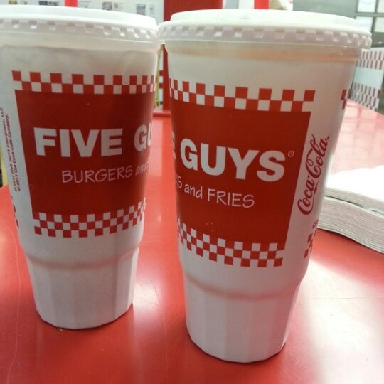 Photo taken at Five Guys by Evelyn C. on 12/15/2012