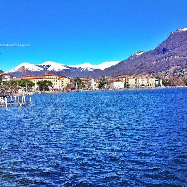 Photo taken at Lago di Lugano by Kirill S. on 2/22/2014