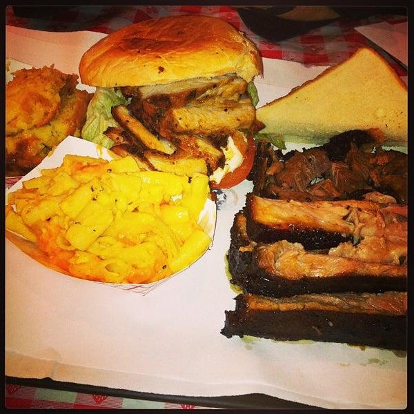 Photo taken at John Brown Smokehouse by 24 Dollar Burger on 2/15/2013