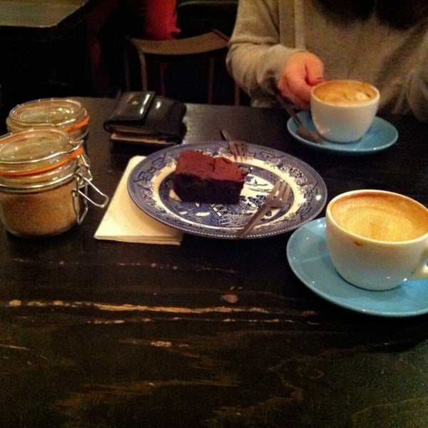 Photo taken at Flat White by Jeongyun on 3/9/2013