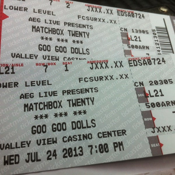 Photo taken at Valley View Casino Center by Lyra G. on 7/25/2013