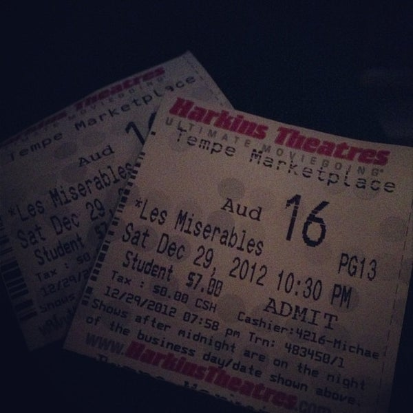 Photo taken at Harkins Theatres Tempe Marketplace 16 by Margaret on 12/30/2012