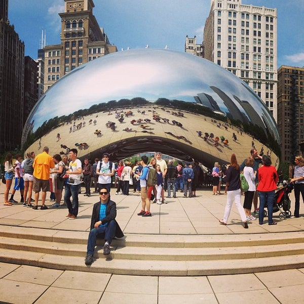 Photo taken at Cloud Gate by Luis R. on 6/14/2013