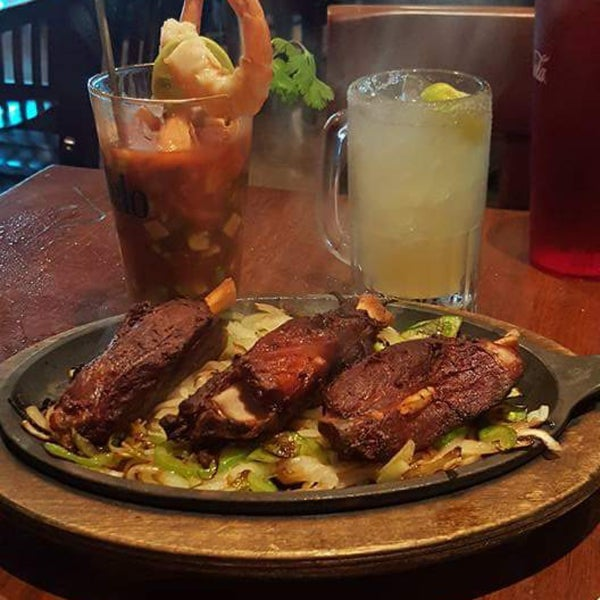 La Familia is under new management now over a year. This fajita plate is awesome. It's pork meat and so tender. It's called Redneck Fajitas. Their margaritas are super . A new flavor I like is mango.