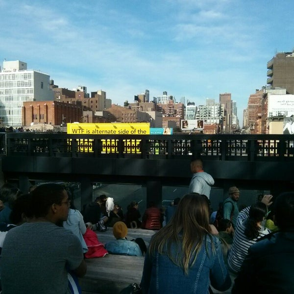 Photo taken at High Line 10th Ave Amphitheatre by Aleksandr M. on 4/19/2014
