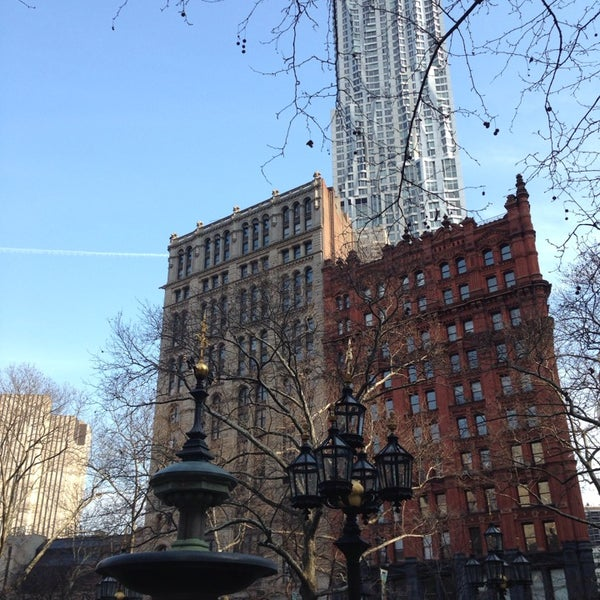Photo taken at City Hall Park by Sevda V. on 3/10/2014