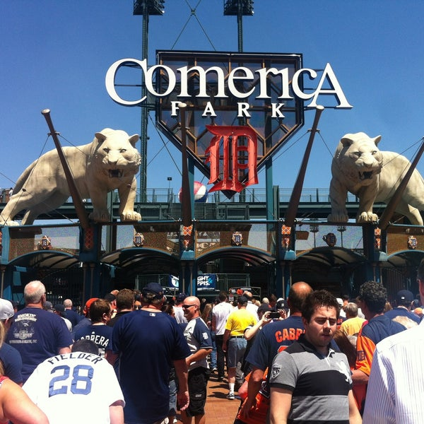 Photo taken at Comerica Park by Kaileen on 5/15/2013