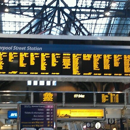Photo taken at London Liverpool Street Railway Station (LST) by Vicki H. on 10/2/2012