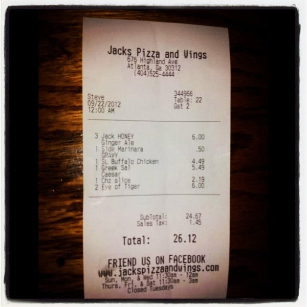 Photo taken at Jack's Pizza & Wings by newSaga on 9/22/2012