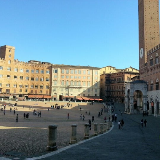 Photo taken at Piazza del Campo by Pagany on 10/20/2012