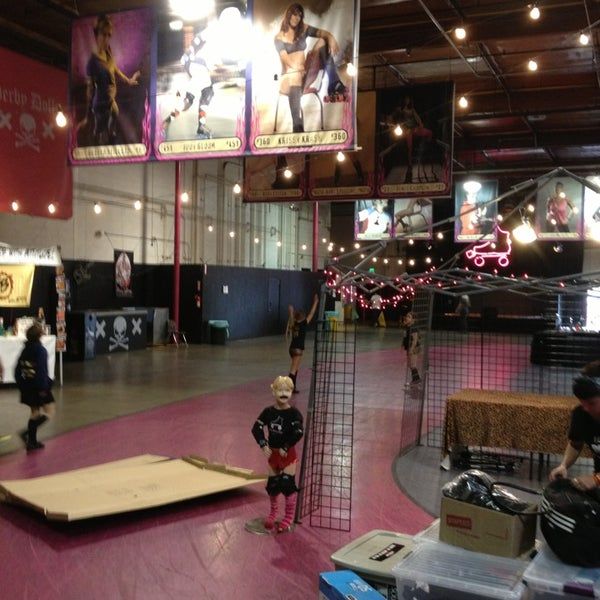 Photo taken at Doll Factory (L.A. Derby Dolls) by Megan F. on 6/10/2013