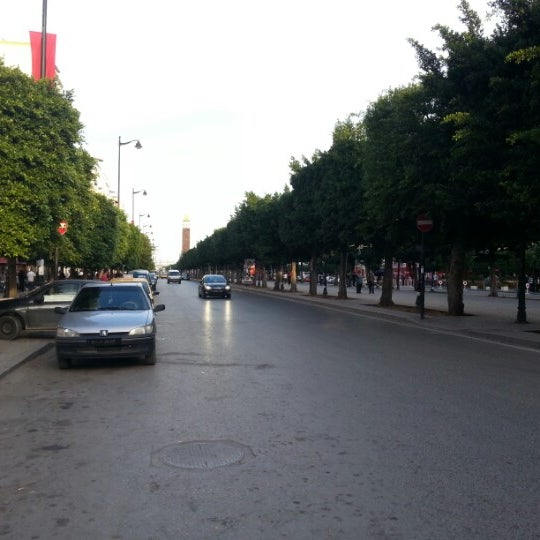 Photo taken at Avenue Habib Bourguiba I شارع الحبيب بورقيبة by Hyungoo J. on 10/27/2012