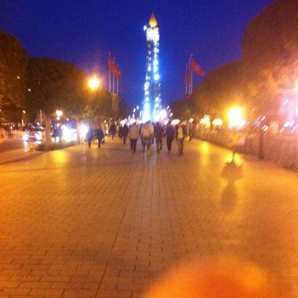 Photo taken at Avenue Habib Bourguiba by toujani k. on 4/18/2015