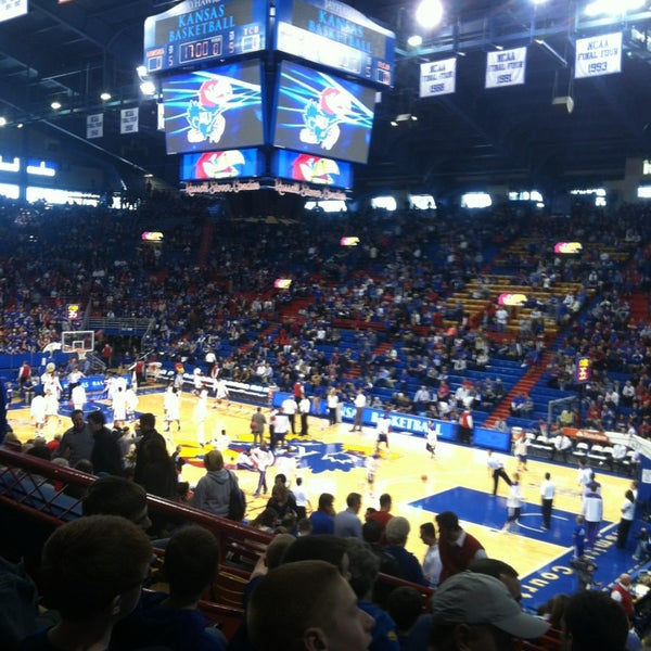 Photo taken at Allen Fieldhouse by Stephanie R. on 2/23/2013