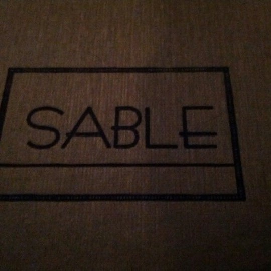 Photo taken at Sable Kitchen & Bar by Michael C. on 2/7/2013